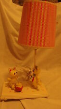 VINTAGE 60's ?? NURSERY / CHILD  MUSICAL BEDROOM  LAMP - DANCING BEARS
