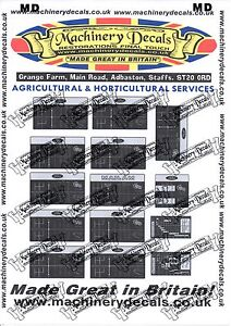 GEAR RATIOS FORD TRACTOR DECALS
