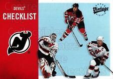 2000-01 UD Vintage #221 Scott Gomez, Martin Brodeur, Scott Stevens, Checklist