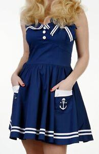 Minikleid Gogo Matrosenkleid Matrosenkostüm Strandkleid Vintagekleid hochwertig