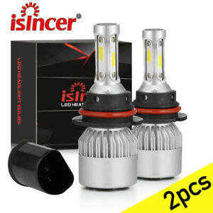 9007 HB5 CREE LED Headlight Bulbs Conversion Kit High Low Beam 6000K Super White