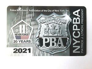 NEW  2021 NYPD NYC PBA CARD