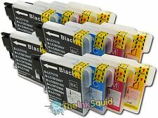 16 LC980 Ink Cartridges for Brother DCP-195C DCP 195 C