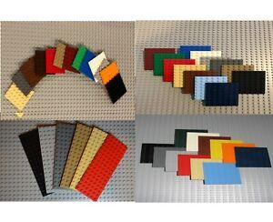 Lego Studded Plates-6X6, 6X8, 6X10, 6x12, 6X14, 6X16 - Pick the Color & Quantity
