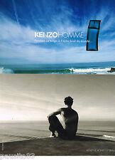 PUBLICITE ADVERTISING 065  2009  KENZO  parfum homme LE MONDE EST BEAU