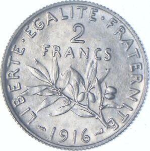 Better Date - 1916 France 2 Francs - SILVER *187