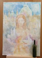 Bild Porträt Weiblicher Akt Venedig Pop Art Jahre 80 Maler Pancaldi P35
