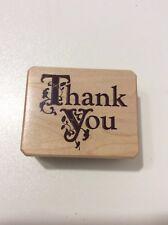 Thank You Inkadinkado Wood Mounted Rubber Stamp NEW!!!!!