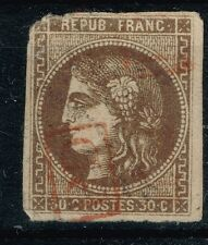 FRANCE BORDEAUX N° 47 RARE OBLITERATION PD ROUGE ENCADRE COTE MAURY 500 €