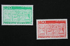 ANDORRE FRANCAIS - timbre Yvert&Tellier n°410-411 n**- stamp andorra (cyn1)