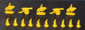 1998 RISK Board Game Part YELLOW ARMY Replacement Piece Cannon Miniature Soldier