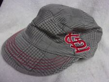 St. Louis Cardinals 47 Brand MLB Baseball Adjustable Gray Plaid w/ Red Cap Hat