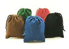 NEW 5 Piece 4 x 5.5 Velveteen Cloth Dice Bag Set – RPG D&D Dice Pouch – 5 Colors