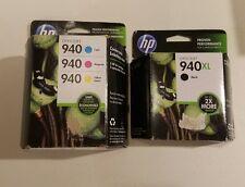 HP OFFICEJET 940 INK: 3PK COLOR (EXP 1/17) & 1 XL BLACK (EXP 12/15) SEALED