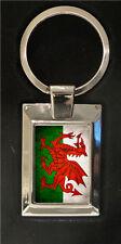 Welsh Flag - high polished metal keyring