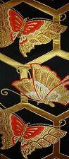 Vintage Japanese Silk Kimono Obi Fabric Panel Quilting Patchwork #211