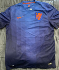 New Nike 2014 Netherlands World Cup Away Jersey L Holland robben sneijder blue