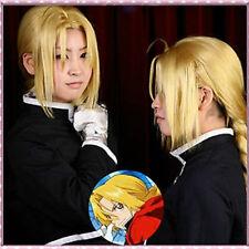 Edward Elric Fullmetal Alchemist Long Blonde Cosplay Wig/Hair