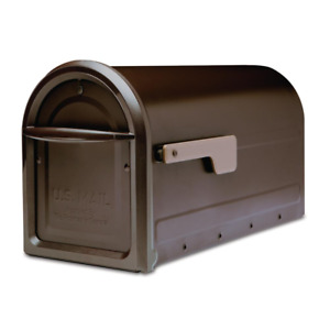 ARCHITECTURAL Large Mailbox Post Mount Bronze Steel Box Residential Mail Storage