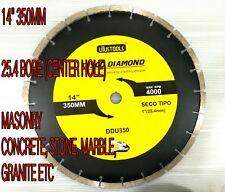 "14"" 350MM Diamond BLADE FOR CIRCULAR SAW   MACHINE FOR masonry  concrete marble"