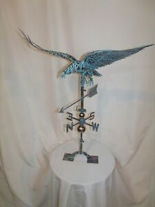 XL Handcrafted 3Dimensional FLYING EAGLE Weathervane Copper Patina finish