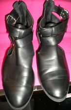 Kmart Girl Express Black Mid-Heel Shoe. Closed-In Toes. Size 8.