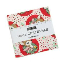 Moda Deer Christmas Charm Pack - Patchwork Quilting 5 Inch Squares