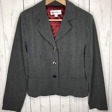Danny & Nicole Women's Blazer Jacket Gray Long Sleeve Size 8 Career Work Wear