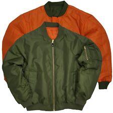 Men's Bomber Jacket Reversible MA-1 Original Military Style, SAGE L Green,