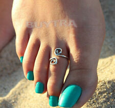 Attractive Women Charm Simple Toe Ring Adjustable Foot Tide Beach Jewelry 3C