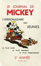 """""""LE JOURNAL DE MICKEY 2ème Année"""" Couverture originale entoilée 1935 Walt DISNEY"""