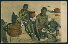 South Africa Black Nude Matabele Girls woman original c1910-1920s postcard