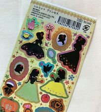Tsuchiya Japan Holographic Sticker Sheet Fairy Tale Princess Silhouette Fancy