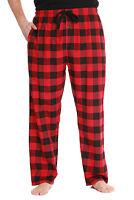 #followme Mens Plaid Poplin Pajama Pants with Pockets
