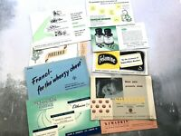Collection of 9 Vintage Pharmacy Advertising Cards
