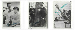 A.& B.C.GUM - Beatles (Black and White)-1964 - No's 34/35/36- Good Clean Cards