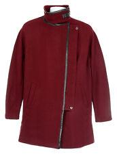 Madewell Women's City Grid Coat Jacket Wool Winter Coat 14 E2236 Dark Cabernet