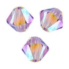 15 Perles Toupies 4mm Cristal Swarovski  - VIOLET AB2X