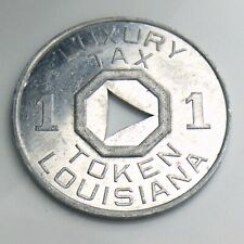 Louisiana One 1 Luxury Aluminum Sales Tax Token Coin United States America K305
