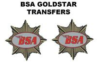 BSA Goldstar Tank Transfer Decal Sticker