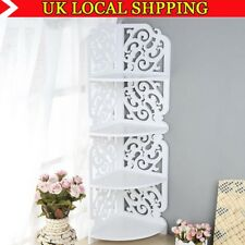 4 Tier Corner Shelf Wall Shelves Storage Display Book Home Decor Rack Bathroom