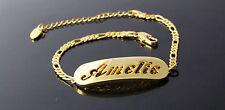 Amelie-Pulsera Con Nombre-de 18 quilates chapado en oro amarillo plateado-Regalos Para Ella-Moda