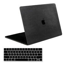 "[SOJITEK] Black Leather Decal Skin for MacBook Pro 13"" A1706 & A1708 + Key Cover"