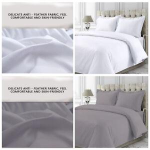 100% Egyptian Cotton Duvet Quilt Cover 400TC Bedding Set Single Double King Size