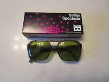 Rare Vintage Bouton Z87 Smoke Green Safety Glasses Side Shields Nos Med