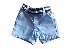 NWT Boy's Gymboree Egg Hunt blue elastic shorts with belt ~ 3-6 months FREE SHIP