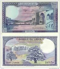LIBANO LIBAN LEBANON 100 LIVRES UNC FDS