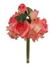 PINK ~ Rose Hydrangea Bridal Bouquet Silk Wedding Flowers Centerpieces Decor