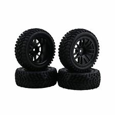 BQLZR RC 110 Wheel Rim Rubber Tyre Tires for OffRoad Vehicle Black Pack of 4 NEW
