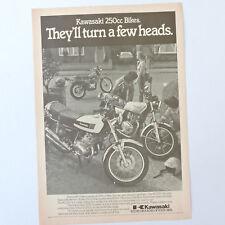KAWASAKI KH250 Z250 Scorpion / Advert Publicidad Reklame Publicite Ad Motorcycle